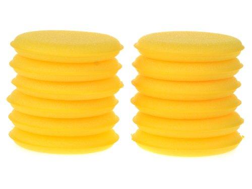 Imixlot Großhandel 12 Stueck WeicheWaxing Wax Polish Foam Sponge Applicator Pads sauberer Auto Glass Gelbes Auto Wax / Polnisch Schaum Schwamm Applicator Pads