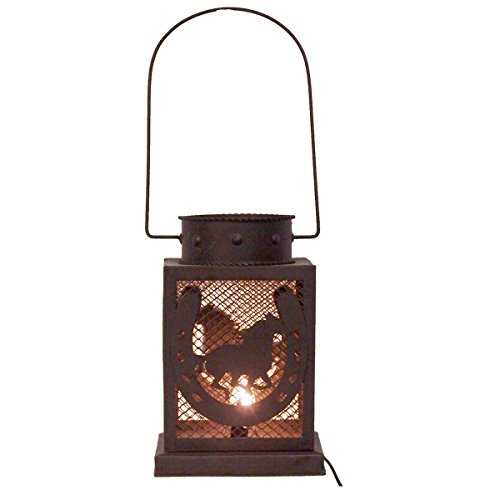 LL Home Horse and Horseshoe Square Lantern by LL Home