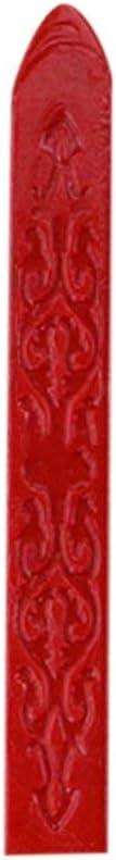 Weinlese-altes Siegellack-Mehrfarbenpfeil-Muster-spezielles Wachs-Siegelwachs f/ür Hochzeits-Einladungs-Karten-Umschlag Rot