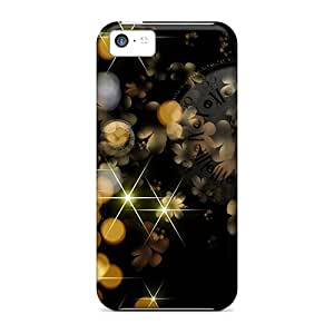 New Cute Funny Black Glitter Case Cover/ Iphone 5c Case Cover