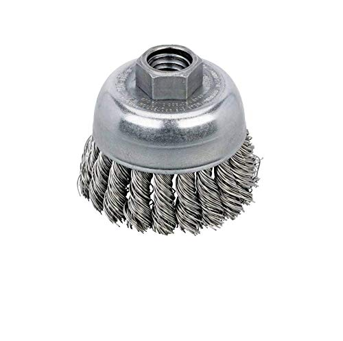 78823 - Knot Wire Cup Brush 2-3/4'' Dia.x.020 x 5/8''-11 Stainless Steel Fit for Dynabrade by MAJESTY CORP (Image #1)