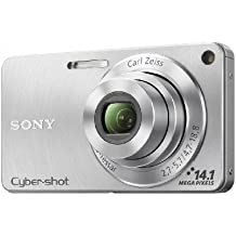 Sony DSC-W350 14.1MP Digital Camera with 4x Wide Angle Zoom with Optical Steady Shot Image Stabilization and 2.7 inch LCD (Silver)