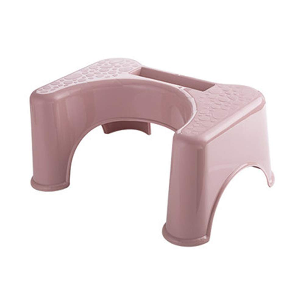 Plastic toilet stool footstool, Kids Toilet Training Seat Proper Toilet Posture for Healthier Results,Pink by HB Toilet Stool