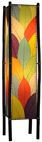 Modern Multicolored Leaves - Genuine Hand Crafted Botanicals, - Leaf Floor Lamp