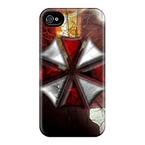 Bumper Hard Phone Cover For Apple Iphone 4/4s With Custom Realistic Resident Evil Skin CharlesPoirier
