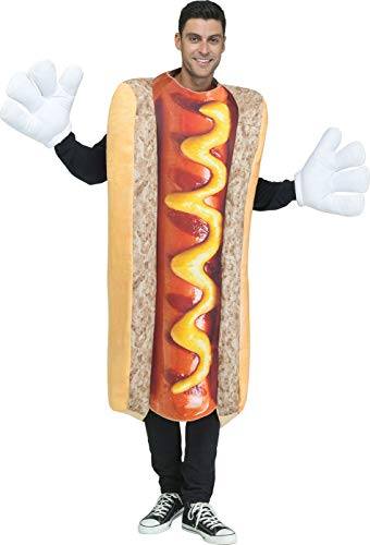 Fun World Men's Photoreal Hot Dog, Multi Standard -