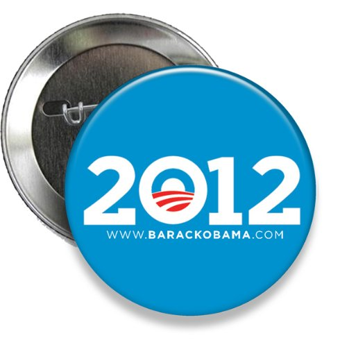 Obama Campaign Buttons - Blue 2012 Obama Campaign Button (Set of 25) 3