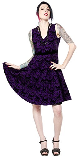 Sourpuss-Spooky-Damask-Dress-Purple