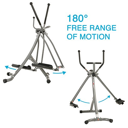 EFITMENT Air Walker Glider Elliptical Machine with Side Sway Action & 360 Motion for Exercise and Fitness - E020 by EFITMENT (Image #2)