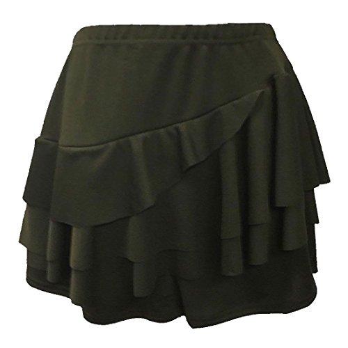 Unique Kaki Jupe Femme Taille Noir 21fashion Uni UXqpY