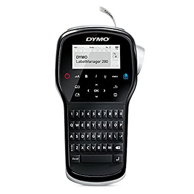 DYMO Label Maker   LabelManager 280 Rechargeable Portable Label Maker, Easy-to-Use, One-Touch Smart Keys, QWERTY Keyboard, PC and Mac Connectivity, for Home & Office Organization