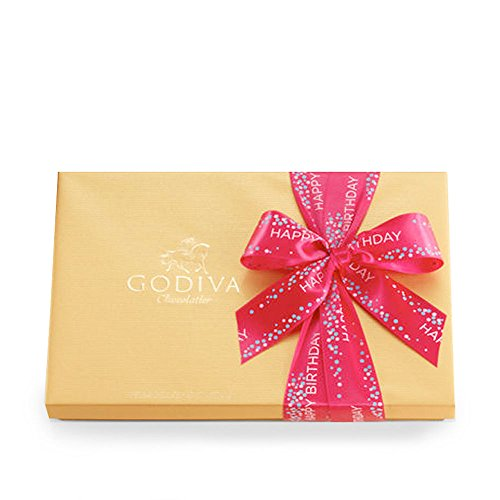 Godiva Chocolatier Gold Ballotin Candy, Happy Birthday, 36 Count