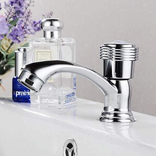 Yadianna バスルームのシンクは、スロット付き浴室の洗面台のシンクホットコールドタップミキサー流域の真鍮シンクミキサータップ非震とうシングルコールド洗面台の蛇口亜鉛合金浴室垂直流域の蛇口をタップ