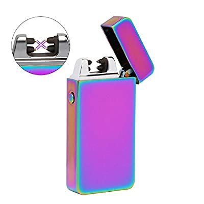 KUOOL USB Plasma Electric Arc Lighter,No Spark & Smell, Flameless, Windproof, Butane Free, Safe Electric Lighters with 360 Rotation Flexible Elbow-Multipurpose for Candle,BBQ,Camping,Cigar