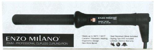 Milano Round Handles (Enzo Milano STR25DV-B Professional Clipless Round Barrel Curling Iron, 1 Inch)