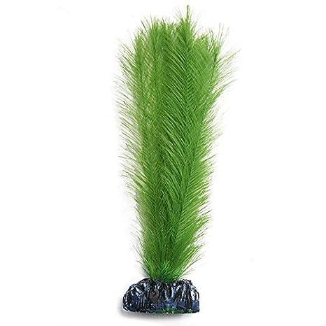 Plantas artificiales de seda realista para acuario ~ 30 cm de seda verde miriofilio: Amazon.es: Productos para mascotas