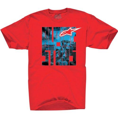 Alpinestars Quality T-shirt - Alpinestars Moto Type Classic T-Shirt Moto Type Red Small S 101272027030S