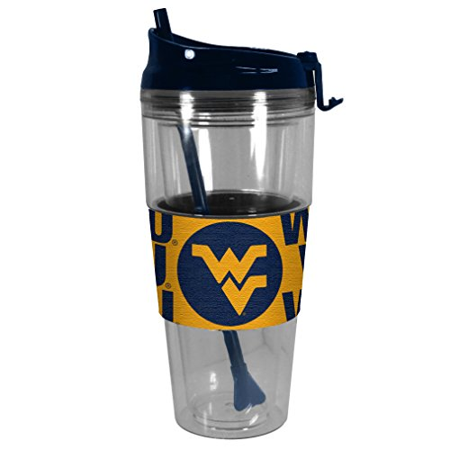 NCAA West Virginia Mountaineers Premium Bold Straw Tumbler, 28-ounce