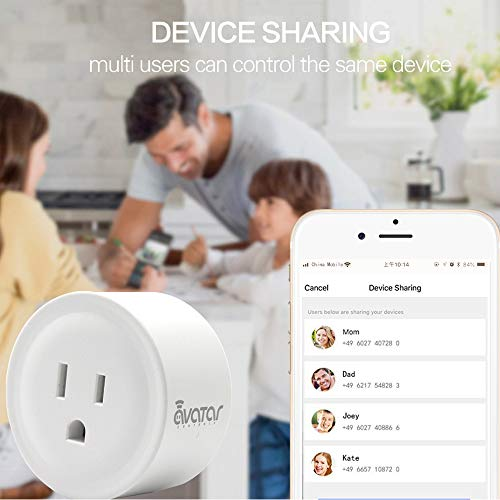 Smart Plug WiFi Outlets Electrical Socket 2 Pack, Work with Alexa Google  Assistant&IFTTT, Smart Life APP Remote Control Timing/Switch, ETL FCC  Listed,