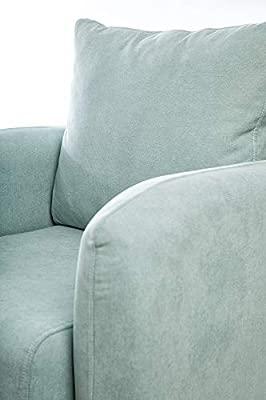 SuenosZzz- Sillon CIES butacas para Dormitorio Nórdica. Sillón tapizado Acualine Antimanchas, Color Beige Rio 5. Nordica Individual de una Plaza, ...