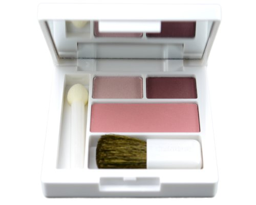 Clinique Colour Surge Eye Shadow Duo (RoseWine Duo) + Soft-Pressed Powder Blusher (Pink ()