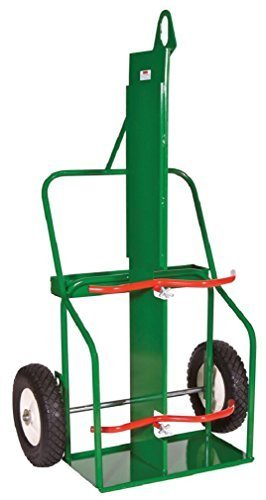 Sumner Manufacturing 782496 213-16FB-LF Double Cylinder Cart, Full Range, High Rail, with Lifting Eye and Firewall, 16'' Flat Free Wheels by Sumner Manufacturing