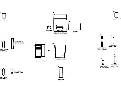 - Rvinyl Rdash Dash Kit Decal Trim for Geo Tracker/Suzuki Sidekick 1996-1998 - Wood Grain (Walnut)