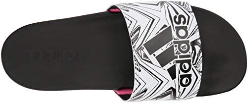 Claquettes shock black Femme Comfort White Confortables Pink Adilette Adidas EYxwqORw