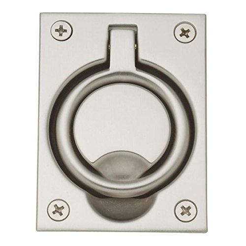 Baldwin 0395150 Flush Ring Pull, Satin Nickel (Flush Baldwin Pull)
