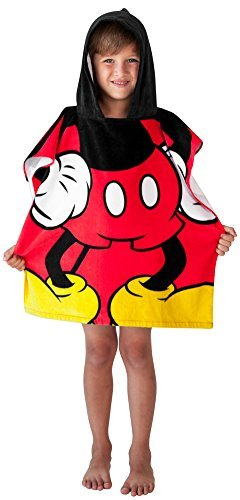 Disney Mickey Mouse Towel Hooded Poncho Bath Beach Childrens