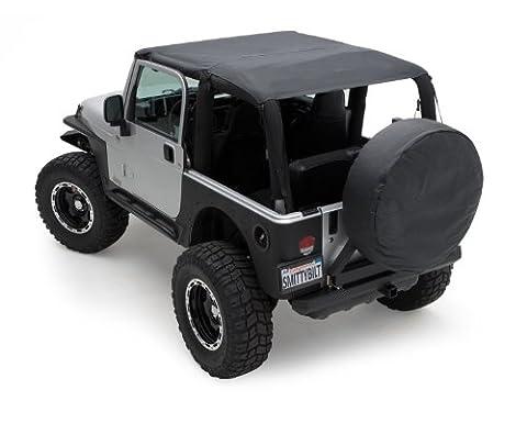 1997-2006 Jeep Tj Smittybilt Black Soft Top Outback Extended Bikini Top - 90104 Windshield