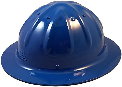Original SkullBucket Aluminum Hard Hats, Full Brim with Ratchet Suspensions Blue
