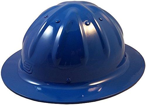 Original SkullBucket Aluminum Hard Hats, Full Brim with Ratchet Suspensions Blue