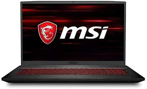 "2020 MSI GF75 Thin Gaming Laptop: tenth Gen Core i5-10300H, 512GB SSD, 17.3"" Full HD 120Hz Display, NVIDIA GTX 1650, 8GB RAM"