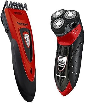 Techwood - Maquinilla de afeitar y para cortar el pelo recargable ...