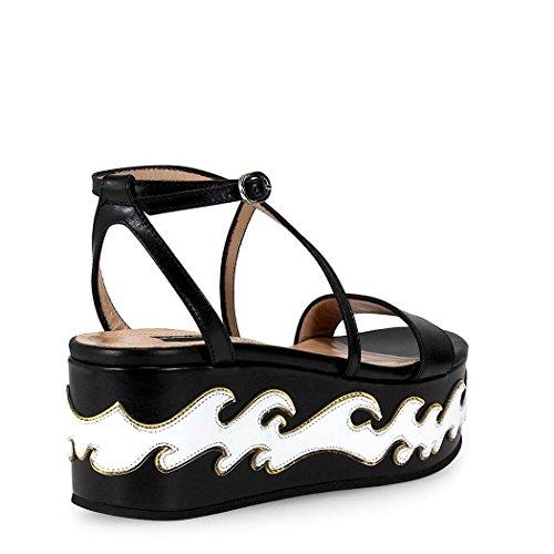 Pinko Vrouwen Dolcetto Wit / Zwart Sandalen