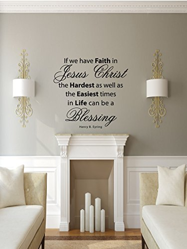 Faith Wall Decals Christian Home Decor,