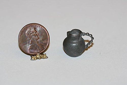 (Dollhouse Miniature 1:12 Scale Small Pewter Jug by Phoenix Models)