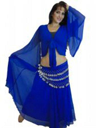 Belly Costume ondulate Gonna 24 Dance 6m VIOLA FORMATO orlato Adatto Reale BRITANNICO 8 a XXL Blu Lunghezza Scegli S fino 10 qp8qz1Y