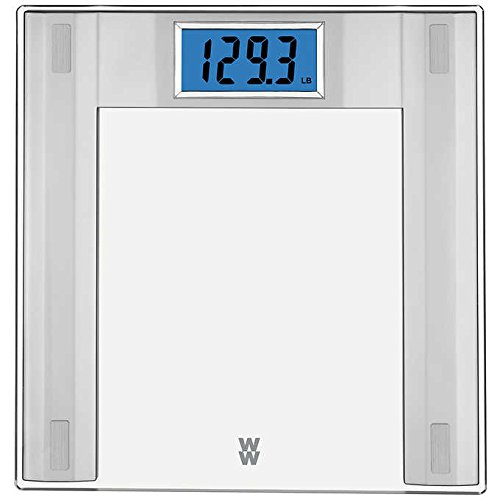 Durable Sturdy Impact-Resistant Glass Uses Precision Electronic Accurate Weight Measurements Large Comfortable 12.2 in. x 12.59 in. Frame Weight Watchers Digital Glass Scale - Perfect Aid For Health! by Generic