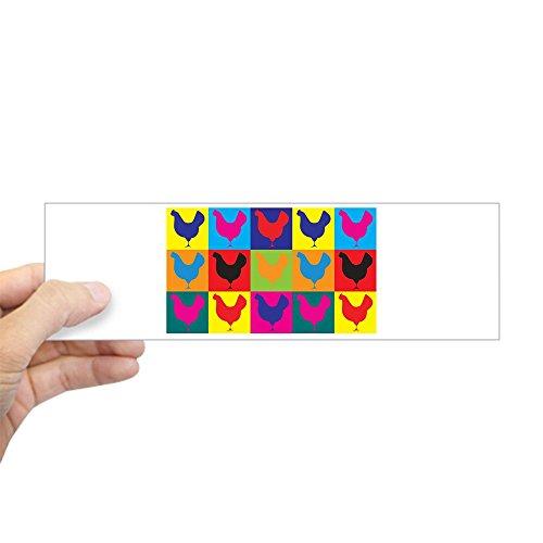 CafePress - Poultry Pop Art Bumper Sticker - 10