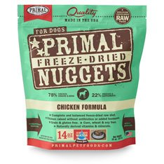 Primal Freeze-dried Chicken Nuggets for Dogs 14oz - Pack of 4