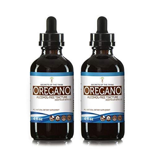 Oregano Alcohol-Free Tincture Liquid Extract, Organic Oregano (Origanum vulgare) Dried Leaf (2x4 fl oz)