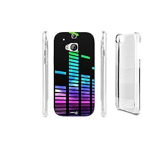 FUNDA CARCASA RETTANGOLI MUSICA PARA HTC ONE M8