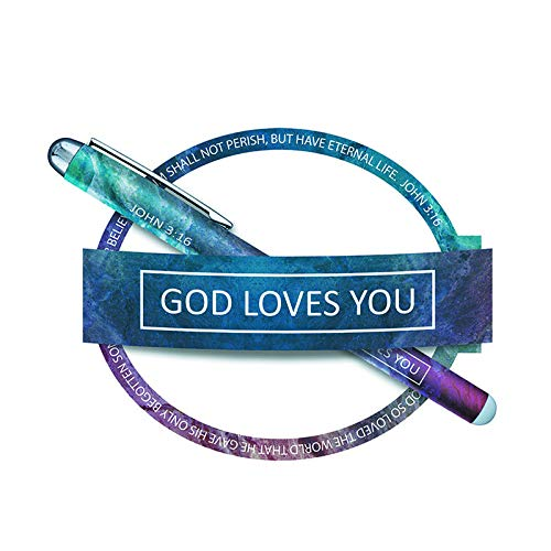 US Gifts God Loves You Gift Pen with Notepad - 12/pk by US Gifts
