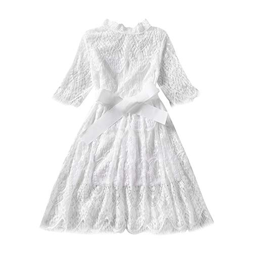 White Dress Skirts for Teen Girls Tennis Skorts Womans Tops T Shirt White Blouses Dry Fit Polos Martini Tees for Golf (White,5-6T)