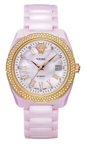 Versace Unisex 01ACP51D001 SC11 DV One Analog Display Automatic Self Wind Pink Watch