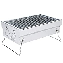 Portable Charcoal Grill Tabletop BBQ Grill Folding Small Barbecue Grill for Outdoor Grilling Camping Hiking Picnics Cooking Tailgating Backpacking Party