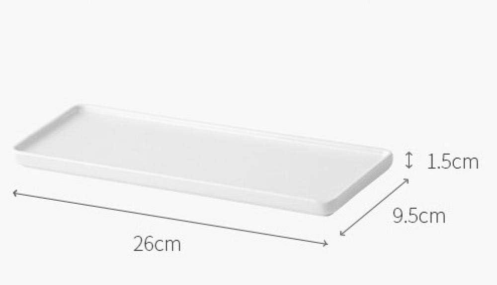 Blanc Porte-Brosse /À Dents En C/éramique /Étag/ère De Toilette Plateau De Rangement Pour Salle De Bains
