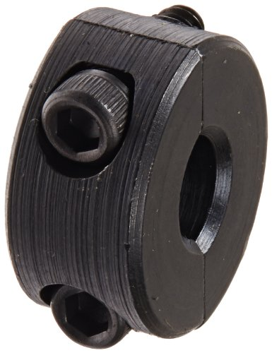 Climax Part 2C-025, Mild Steel, Black Oxide Plating, Clamping Collar, 1/4 inch bore, 11/16 inch OD, 5/16 inch Width, 4-40 x 3/8
